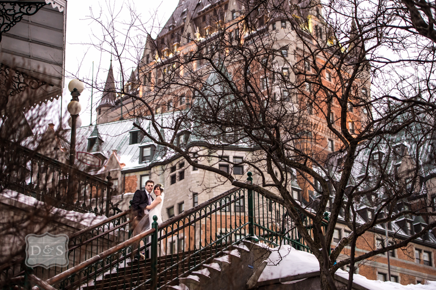 Winter Wedding at the Chateau Frontenac in Vieux Quebec City