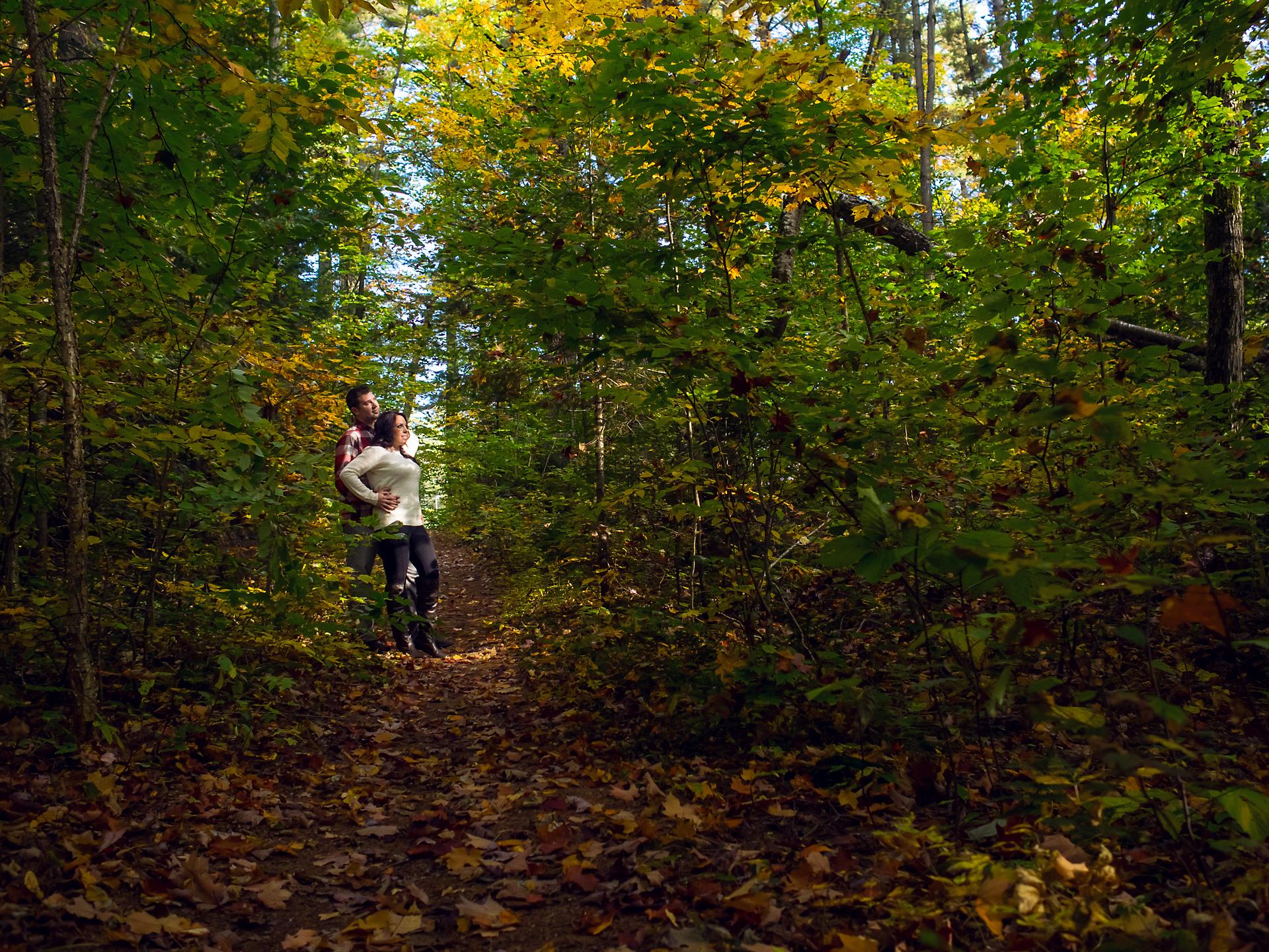 Will & Sarah | High Falls | Muskoka Engagement Photography05