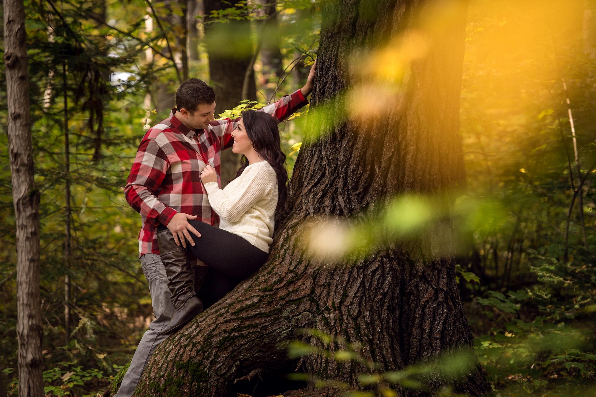 Will & Sarah | High Falls | Muskoka Engagement Photography06