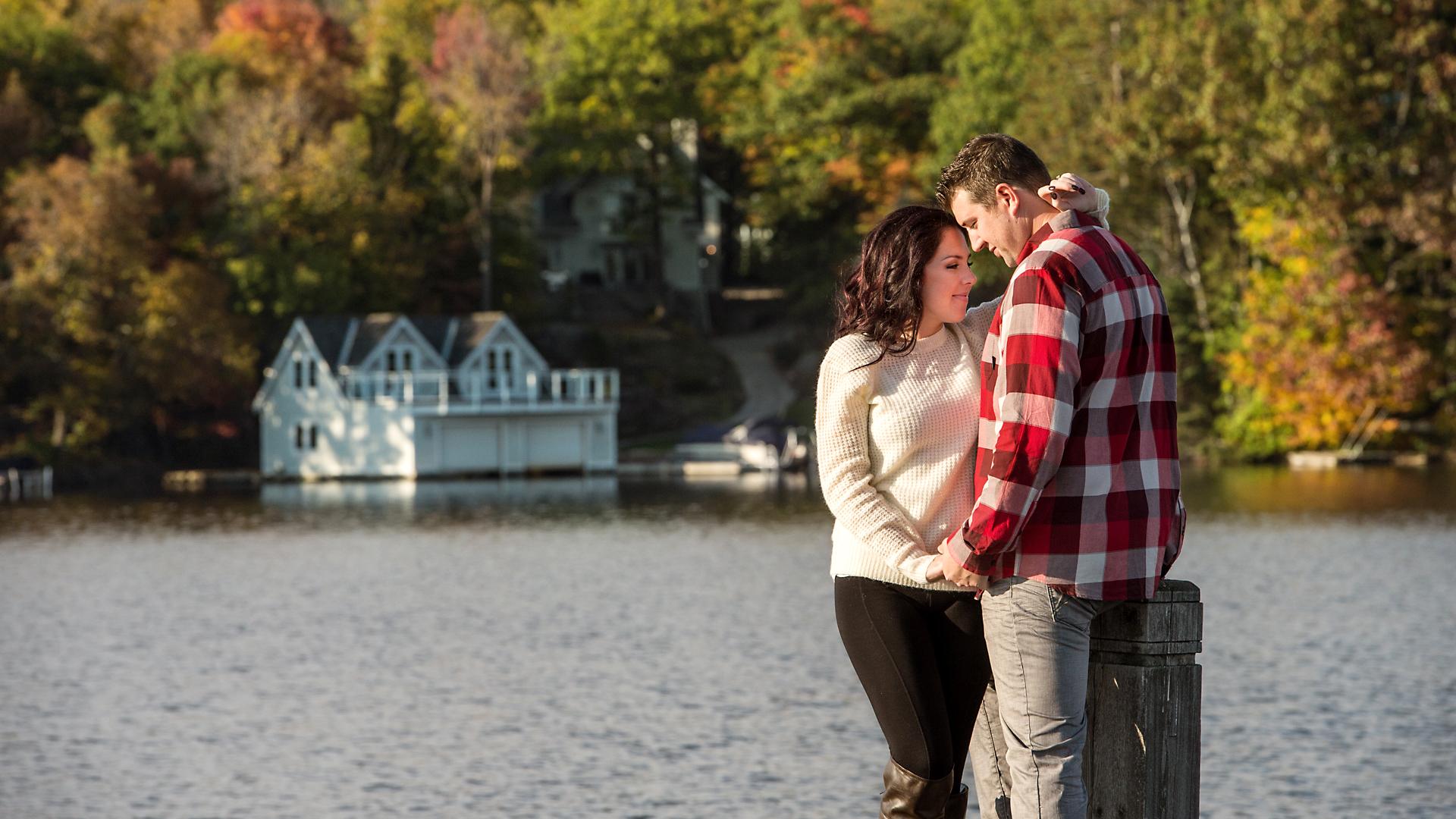 Will & Sarah | High Falls | Muskoka Engagement Photography11