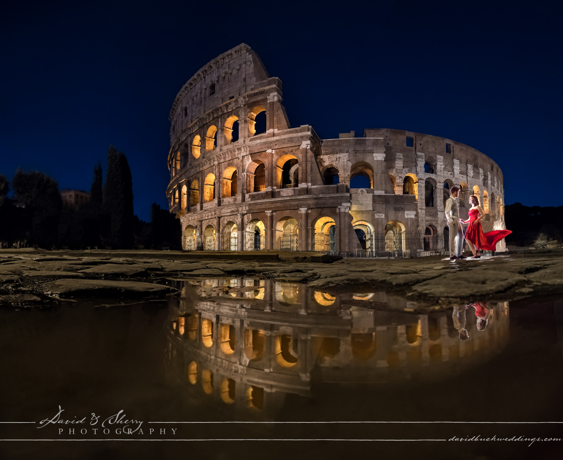 Rome Colosseum Pre-Wedding Engagement Photos