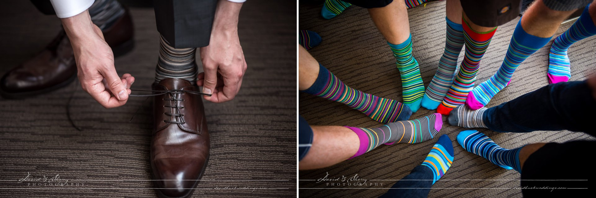 David & Sherry Photography - Groom's Fancy Socks