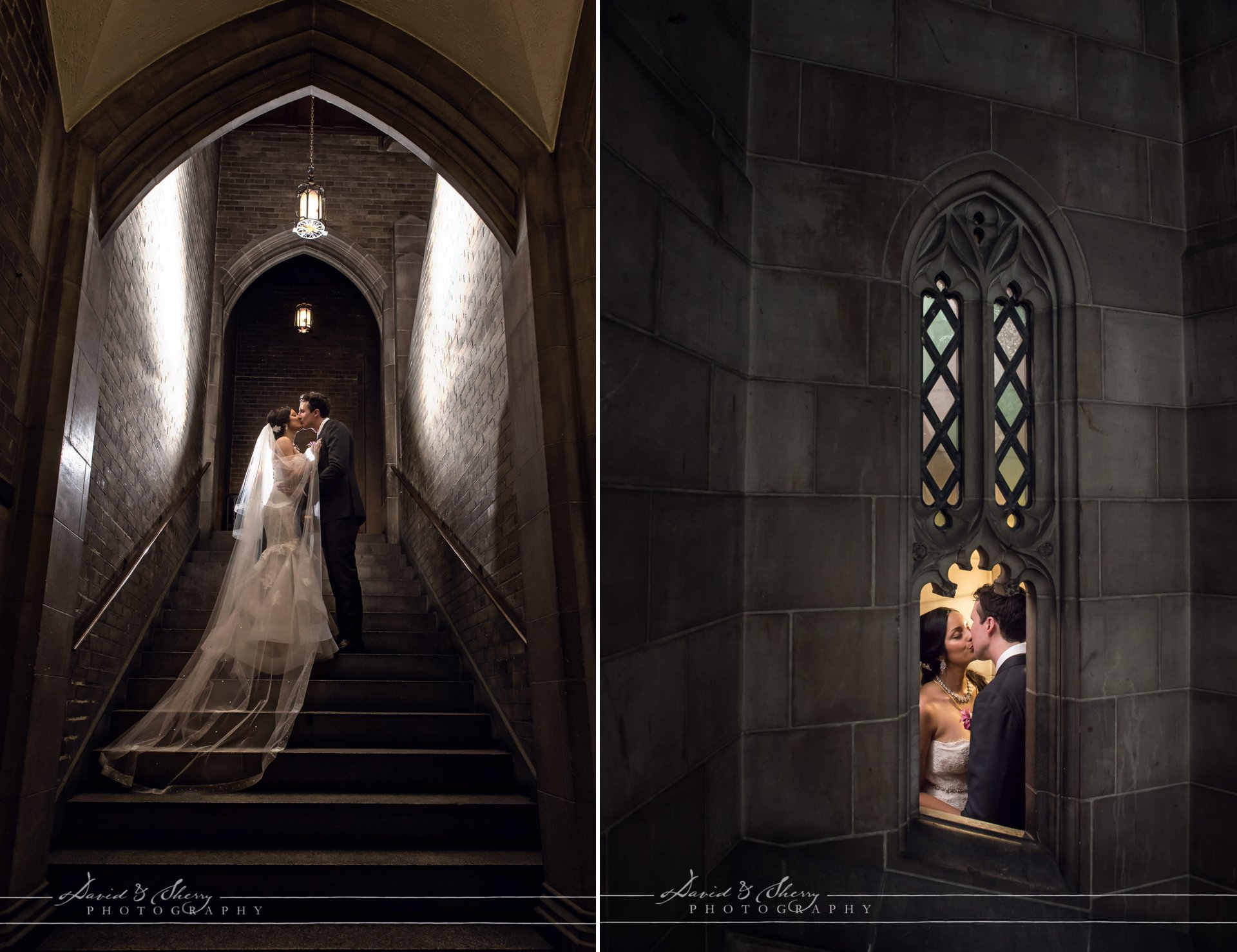 Gothic Wedding Photography Architecture U of T Knox College