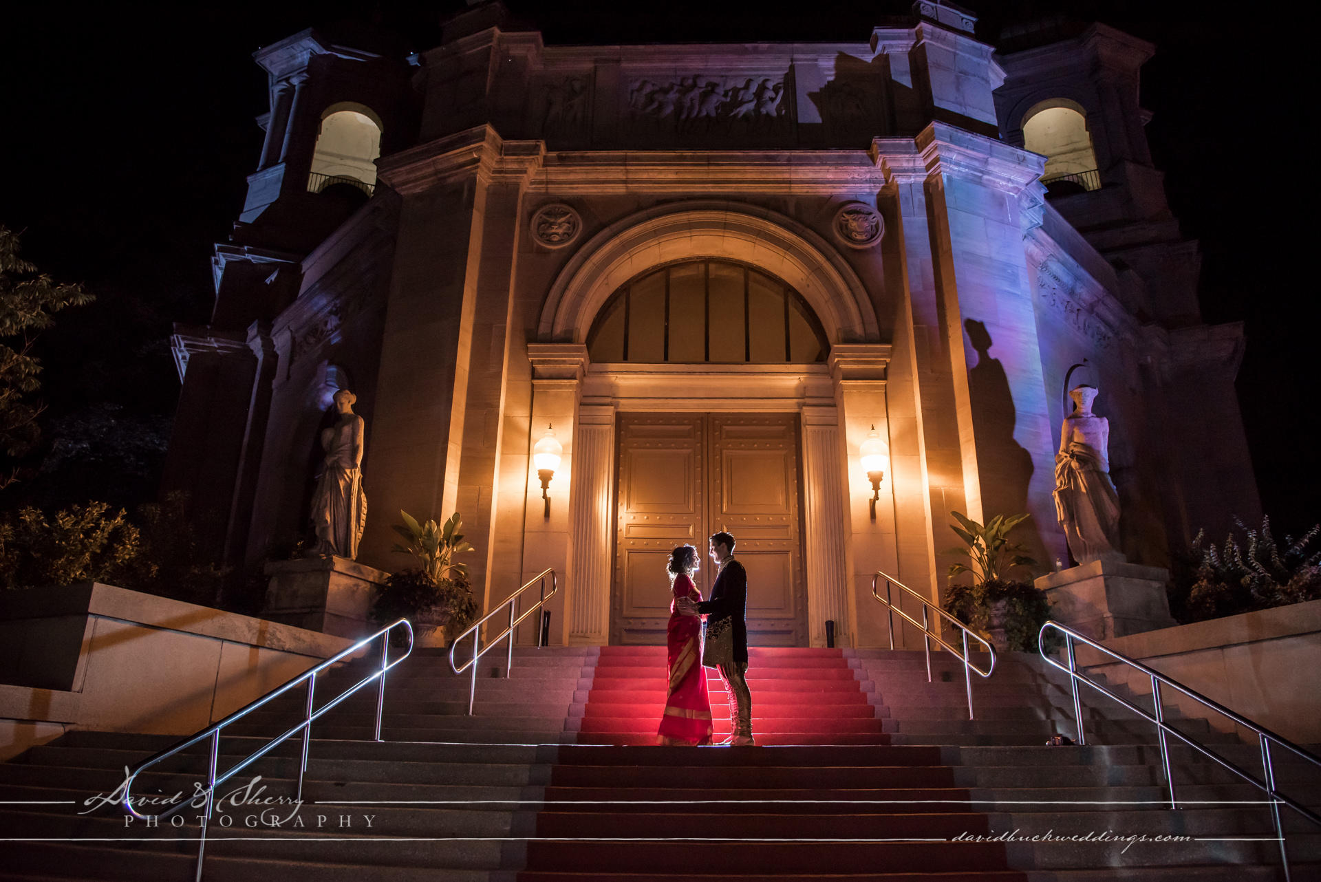 David & Sherry Photography - Liberty Grand Wedding Night Photo