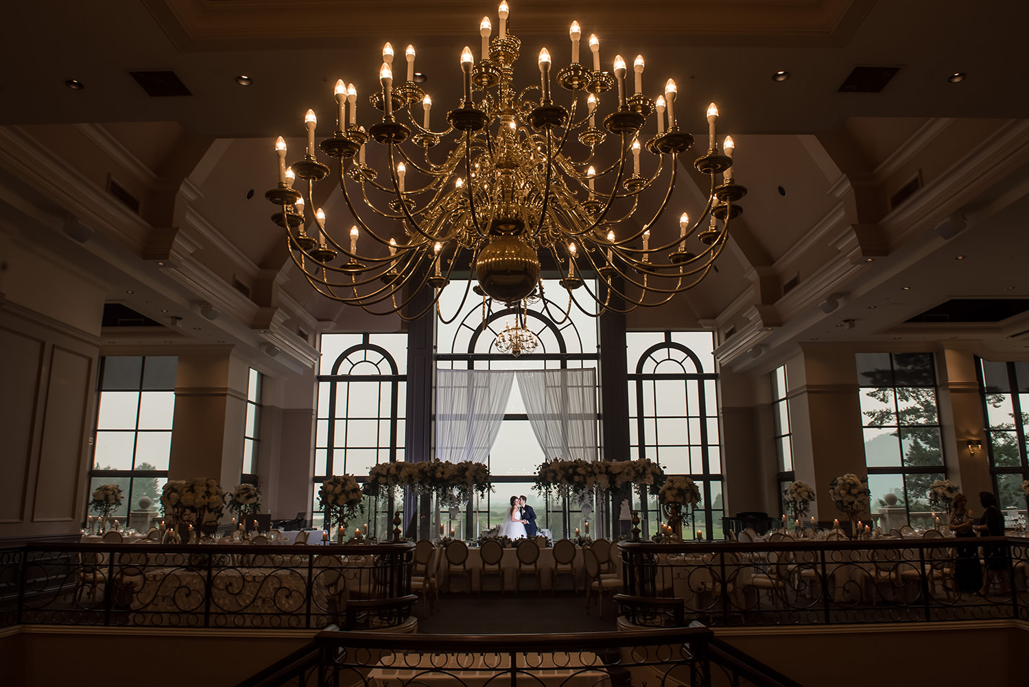 Stunning decor at the Swaneset Bay Resort for a wedding