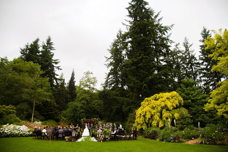 Wedding Ceremony at VanDusen Gardens in Vancouver